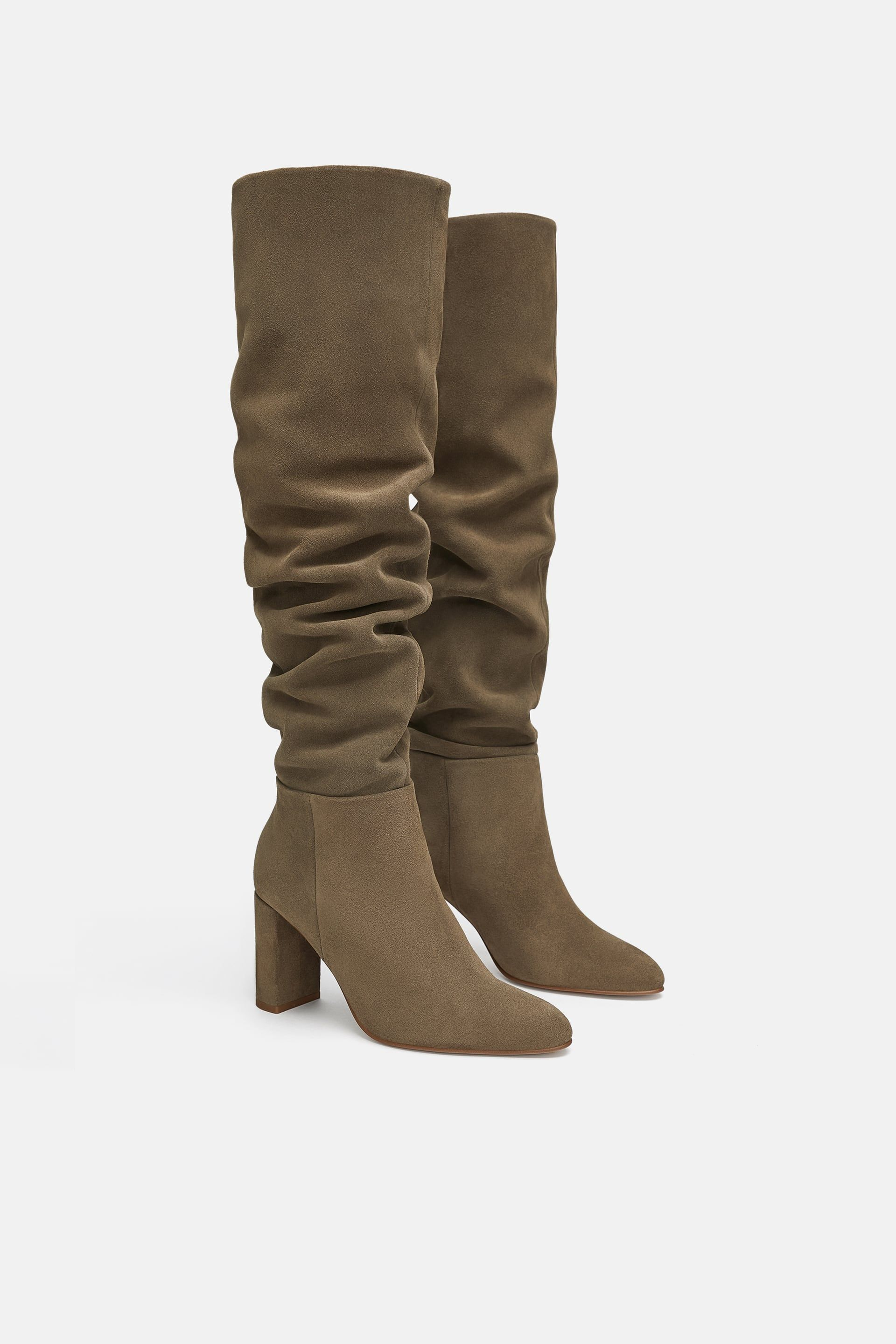 Image 1 of HIGH-HEEL LEATHER BOOTS from Zara   AW 18 Wishlist ... 04e5e874c9