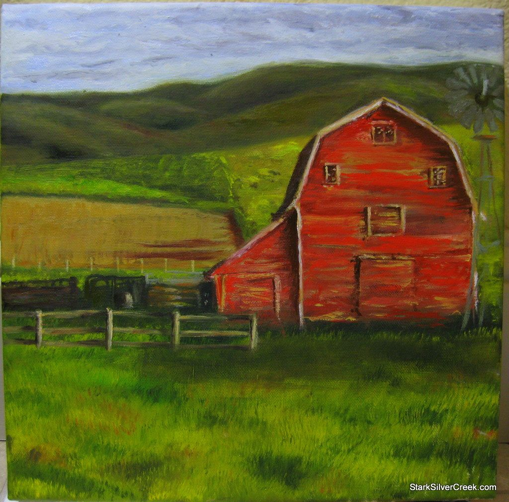 ... Painting: Constructing The Red Barn And The