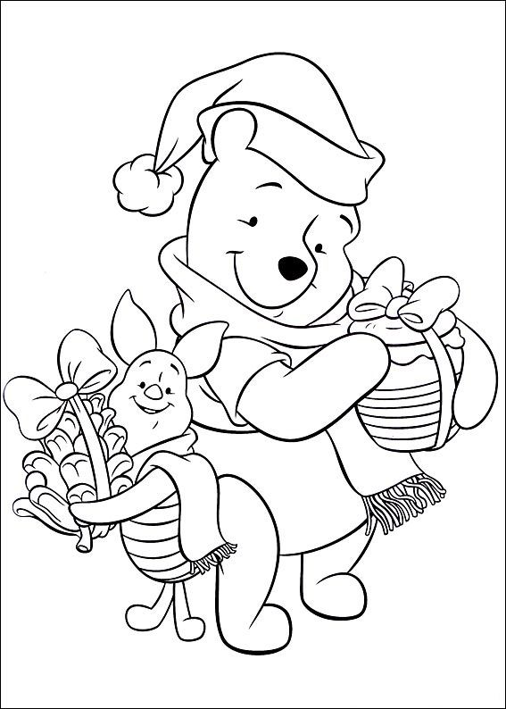 Pooh And Piglet Disney Coloring Pages Christmas Coloring Pages Coloring Pages