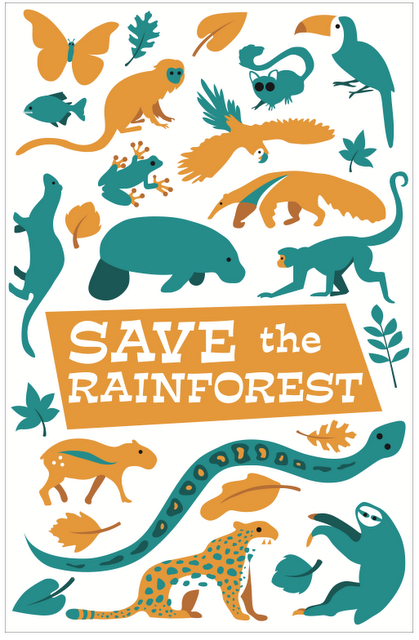 Save The Rainforest Rainforest Animals Science And Nature Illustration
