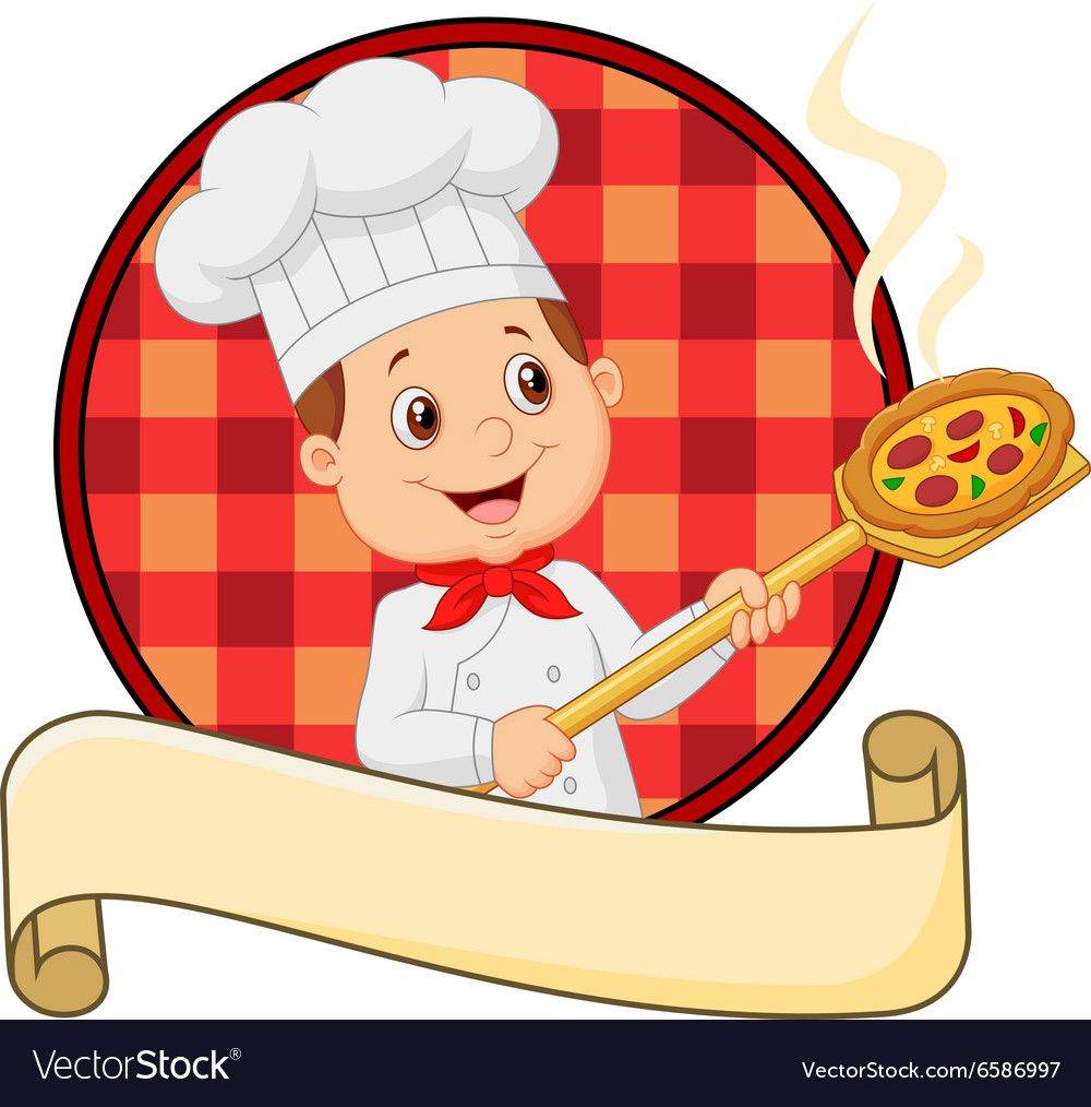Illustration Of Cartoon Pizza Chef Holding A Pizza Loading Peal Download A Free Preview Or High Quality Adobe Illustrato Pizza Chef Pizza Box Design Pizza Art