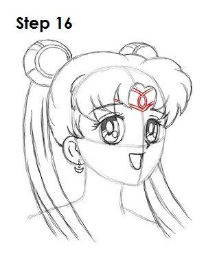 How To Draw Sailor Moon Step 16 Sailor Moon Sailor Moon Sailor