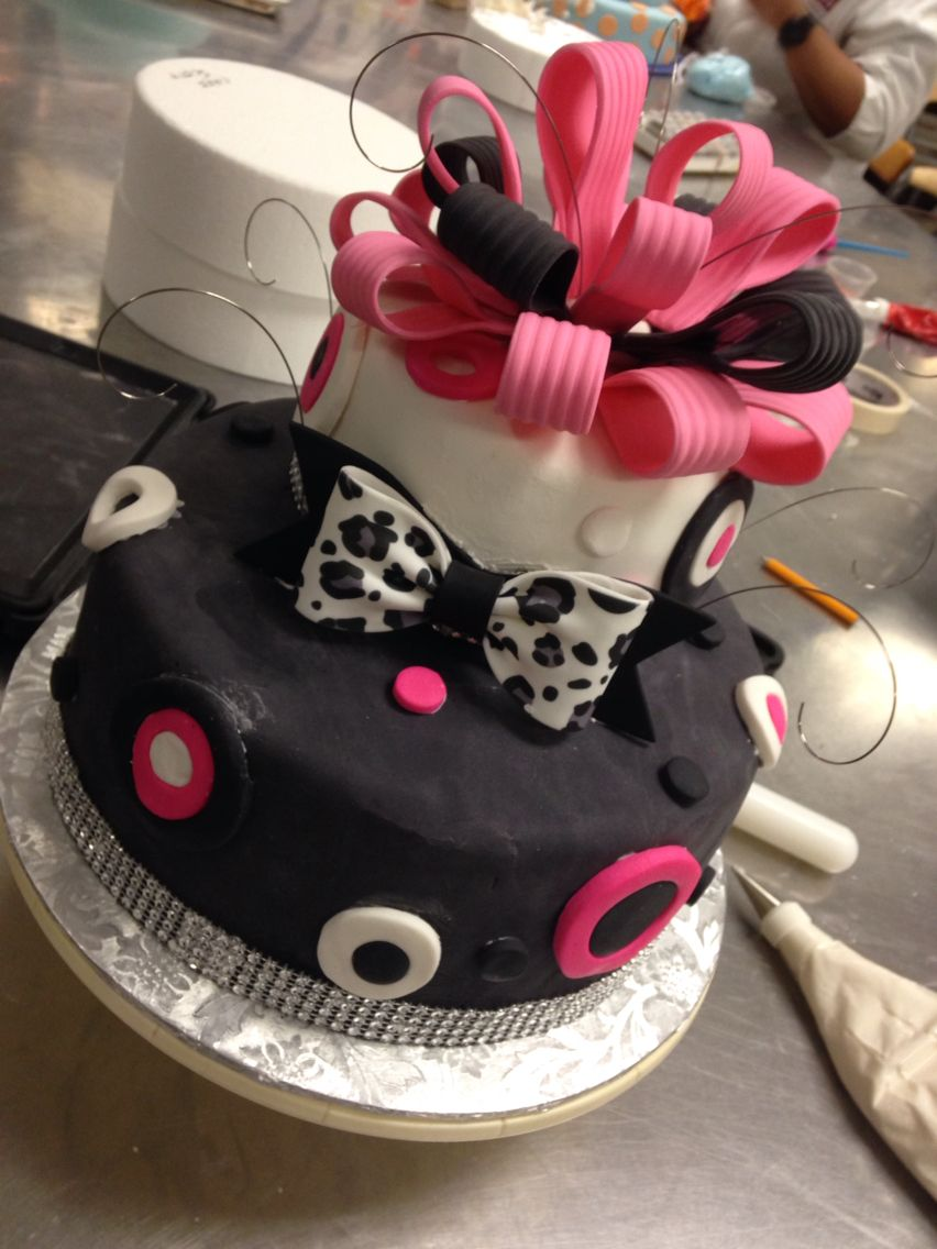 My Graduation Cake I made! Vanilla Cake with French Vanilla Buttercream