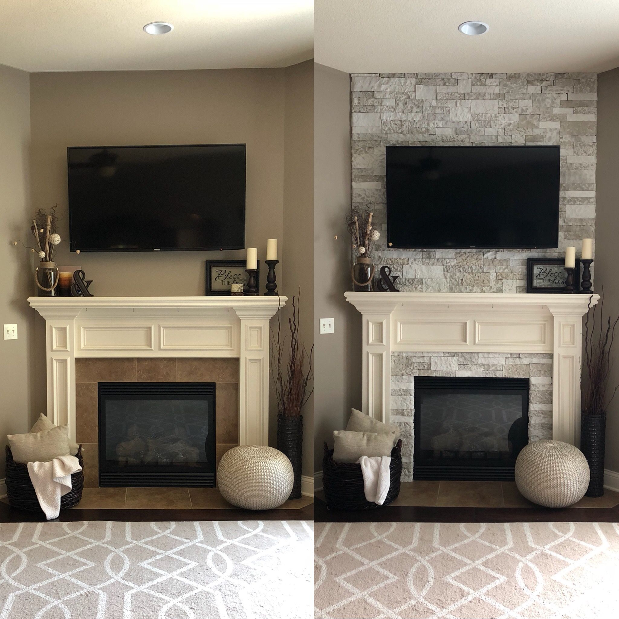 Photo of AirStone Fireplace Makeover (before and after) – My Kind Of Style Blog