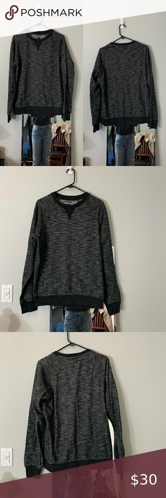 Rvca Dark Gray Heathered Crew Neck Sweatshirt Sz M Crew Neck Sweatshirt Sweatshirts Sweatshirt Shirt [ 1740 x 580 Pixel ]