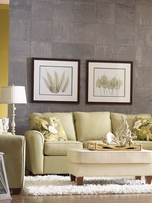 KIEFER - Grey/Silver, brown and green - a color combination I would like to use in livingroom