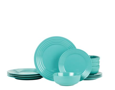 turquoise dinnerware set from Canadian Tire  sc 1 st  Pinterest & turquoise dinnerware set from Canadian Tire | Dishes | Pinterest ...