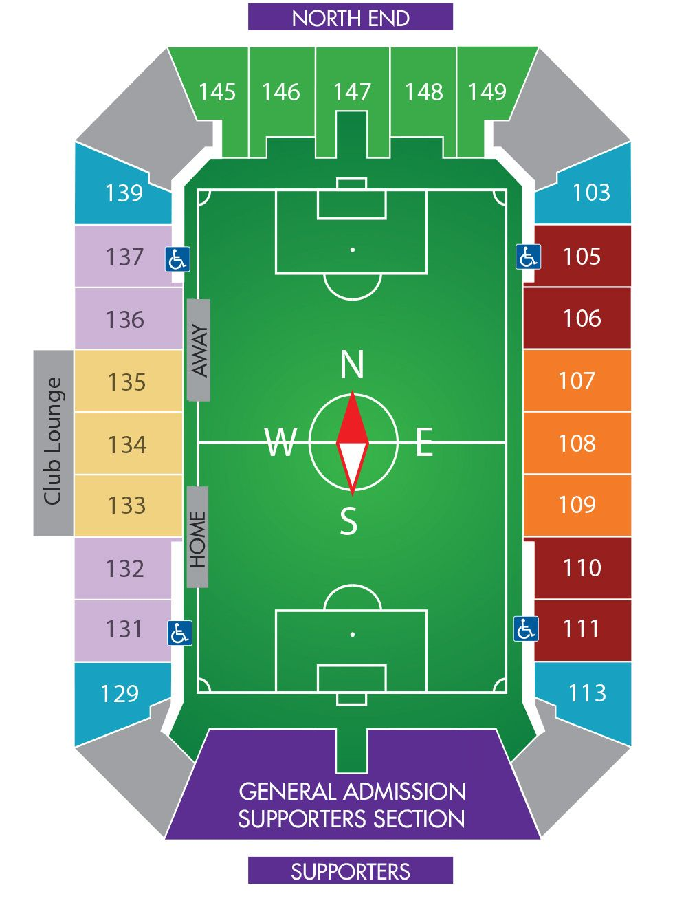 Orlando city lions citrus bowl seating map for 2015 mls