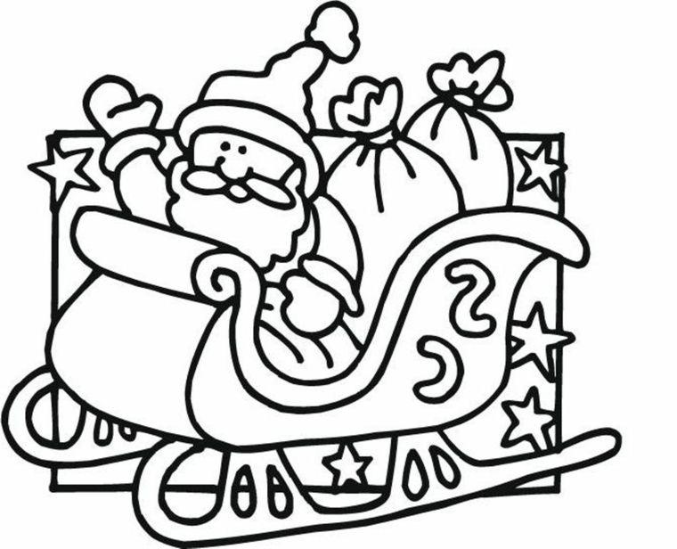 Disegni Sul Natale Babbo Natale A Bordo Della Sua Slitta Con I