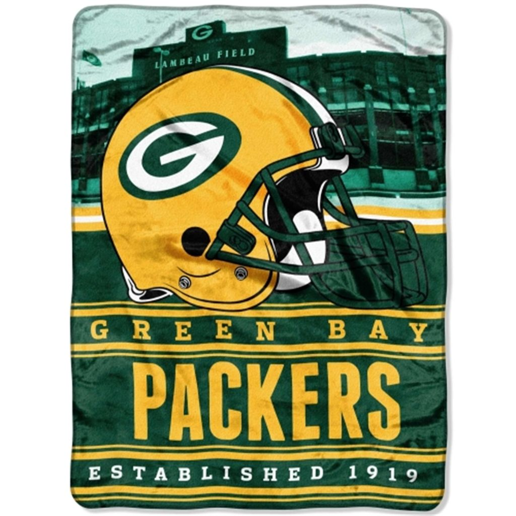 Green Bay Packers 60 X 80 Stacked Silk Touch Plush Blanket Green Bay Packers Blanket Nfl Packers Nfl Green Bay