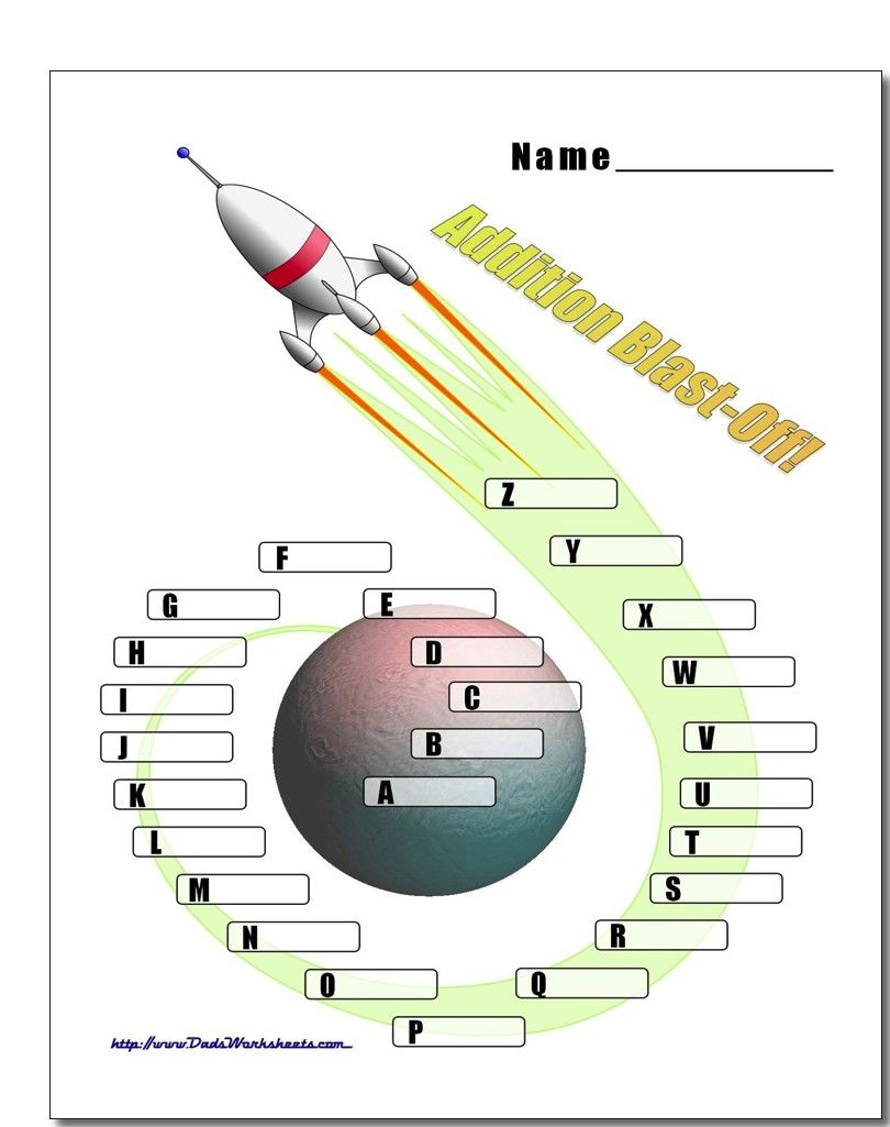 Get Ready For Blast Off These Pages At Dadsworksheets Com Have Exciting Full Color Spaceship Ship Che Math Worksheets Free Math Worksheets Math Facts Addition [ 1025 x 810 Pixel ]