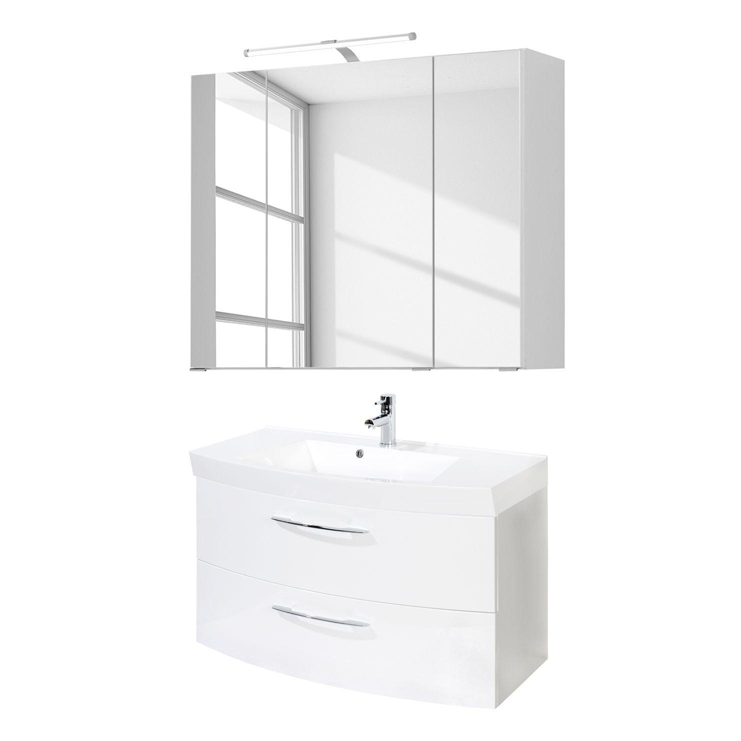 Waschtisch-Set (4-teilig) Strahan - Weiß, Giessbach Jetzt bestellen ...