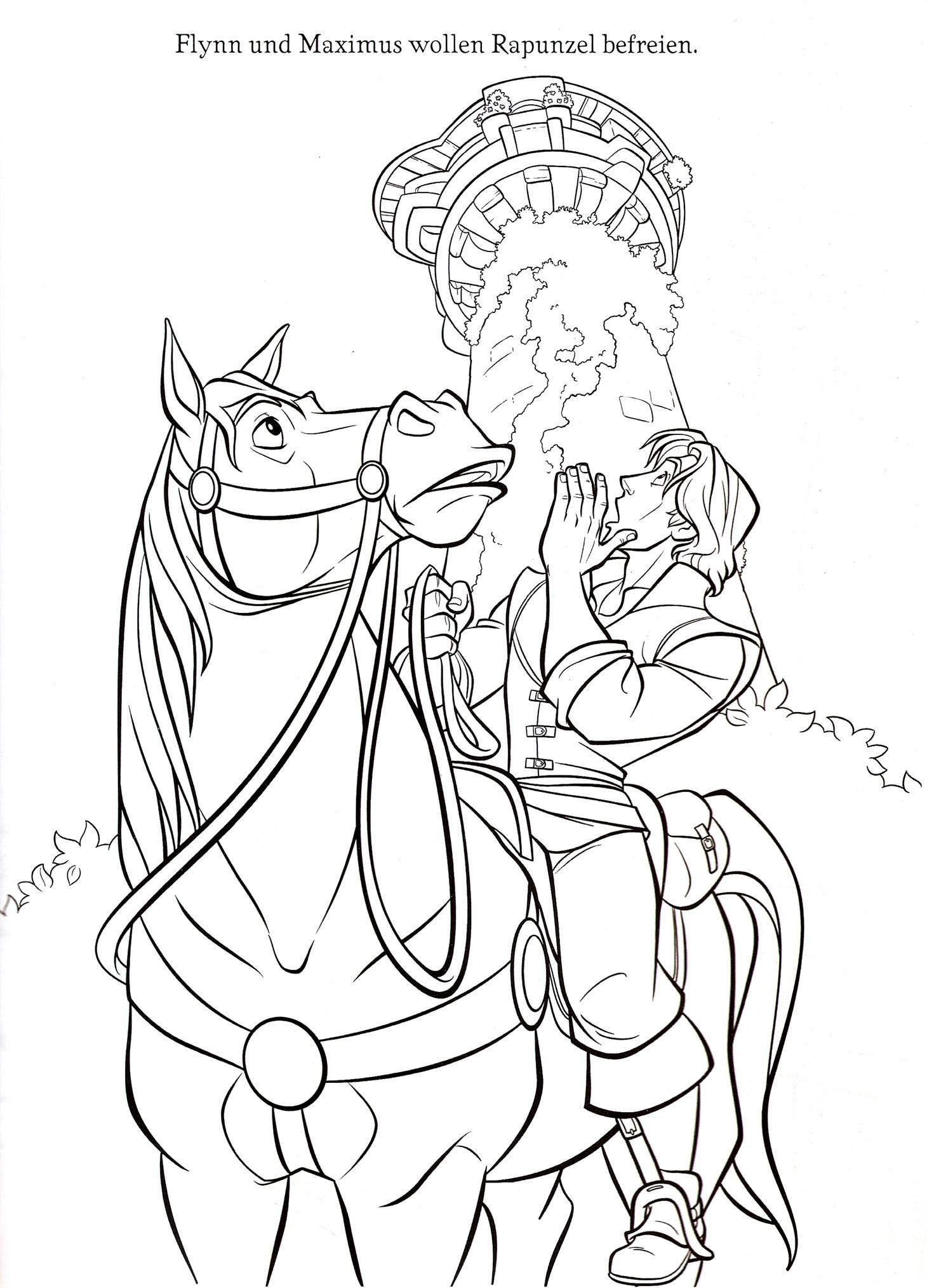 Maximus Rapunzel Ausmalbilder : This Beautiful Rapunzel Coloring Sheet From Tangled Coloring Pages