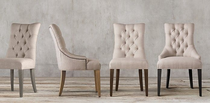 Rh S Martine Tufted Collection At Restoration Hardware You Ll Explore An Exceptional World Of High Quality Unique Dining Chairs