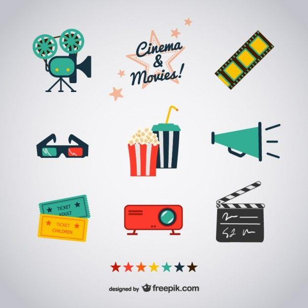 Cinéma et les films icônes Bullet, Journal and Bujo - movie ticket template free download
