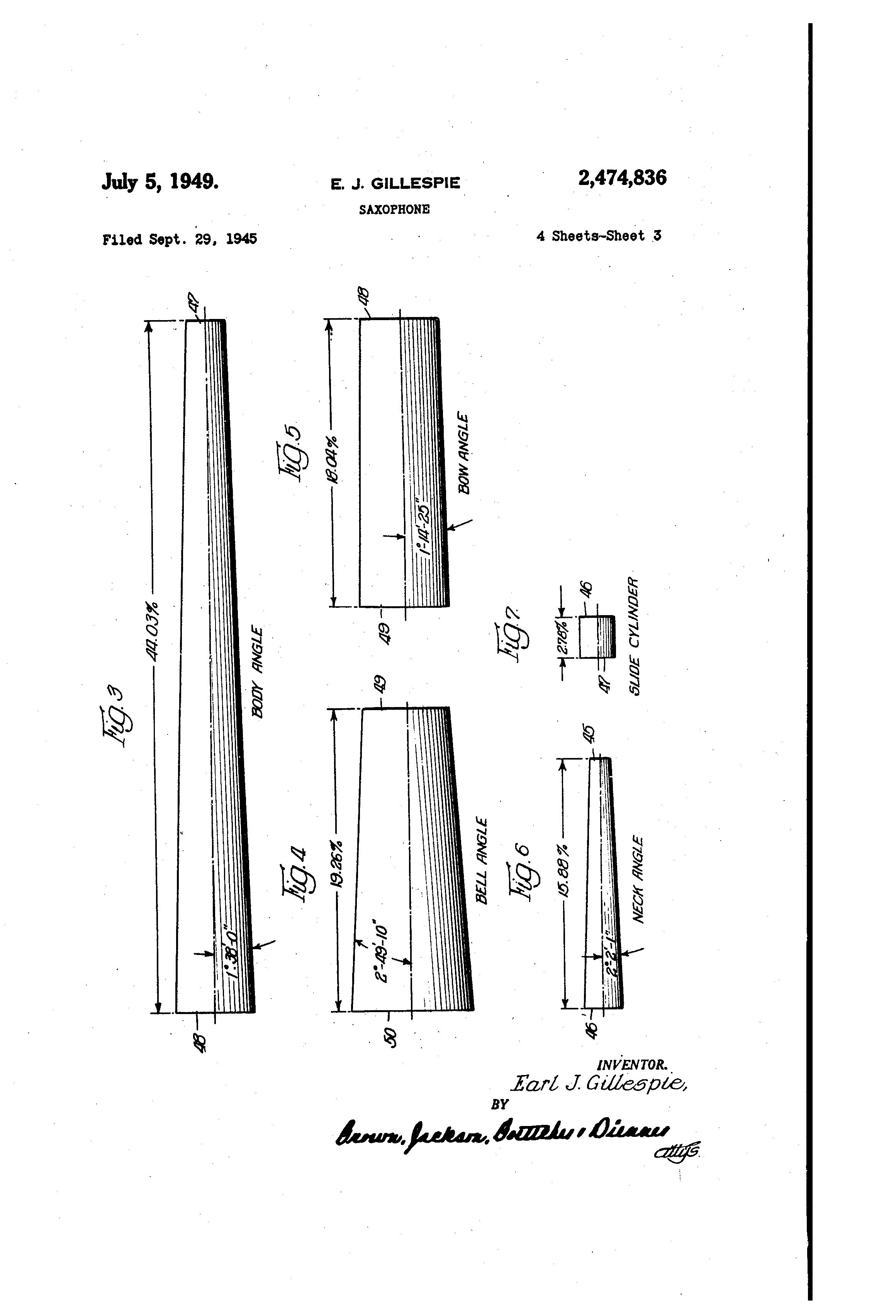 Idea by Saxgourmet Products on Saxophone Patents