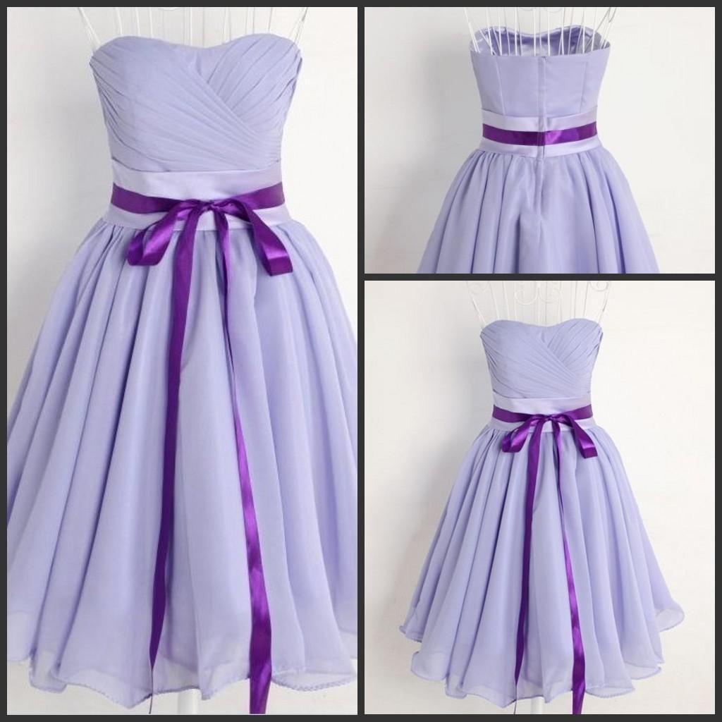 Lavender Simple Elegant Short A-line Charming Bridesmaid Dress ...
