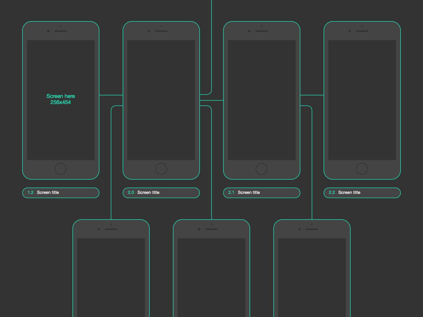 iOS Flow Template Sketch Freebie | Sketch.app | Pinterest | Flow ...
