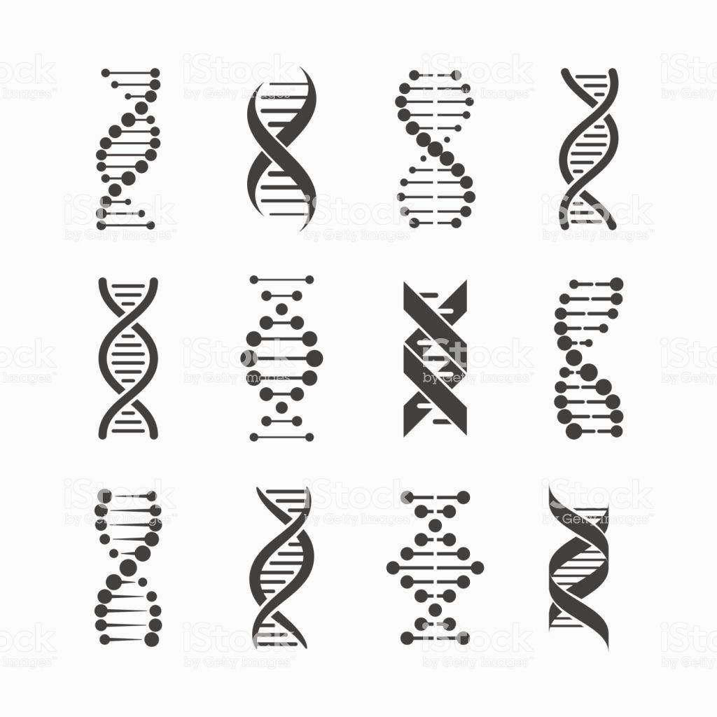 Dna Icons Set Vector Illustration Eps10 Dna Tattoo Dna Art Dna Drawing