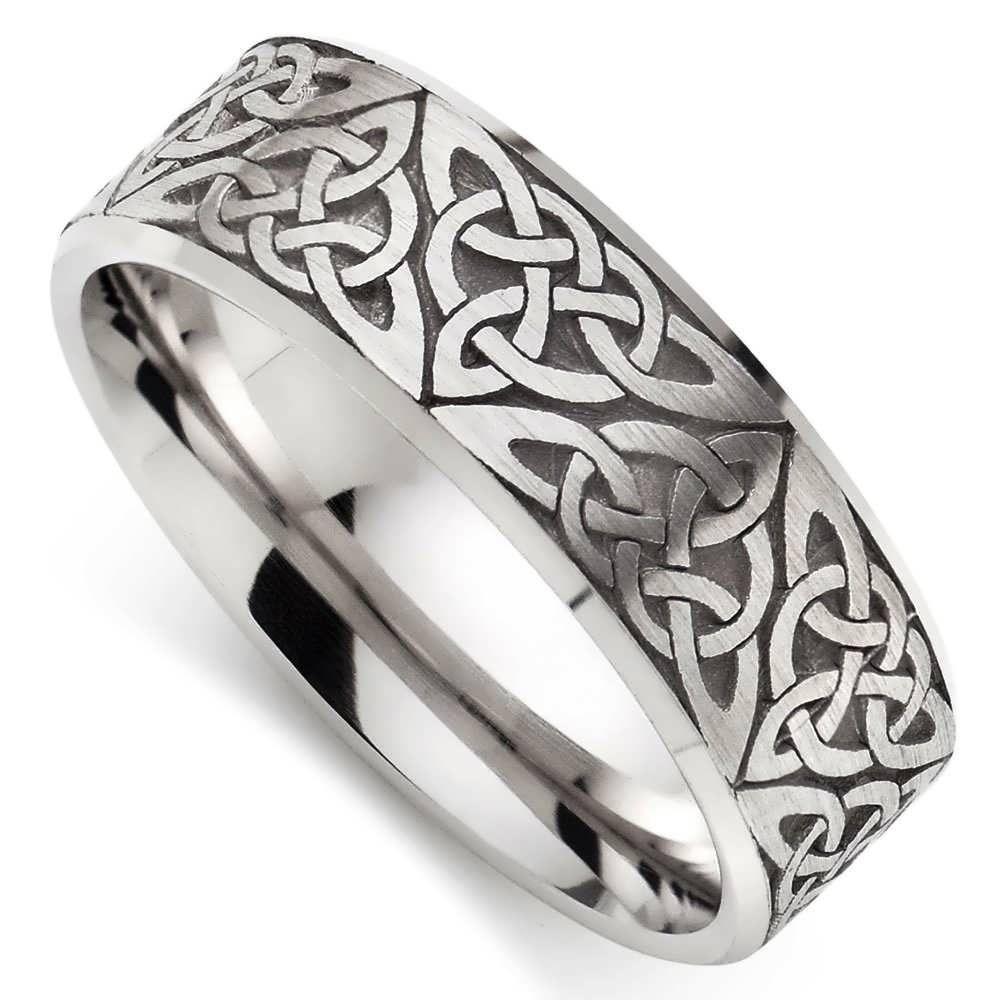 Wedding Rings Celtic White Gold Wedding Ring 9ct White