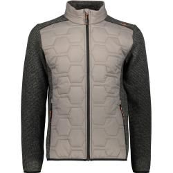 Photo of Cmp Men's Knitted Hybrid Jacket (Size M, Olive) | Fleece jackets> Men F.lli Campagnolo
