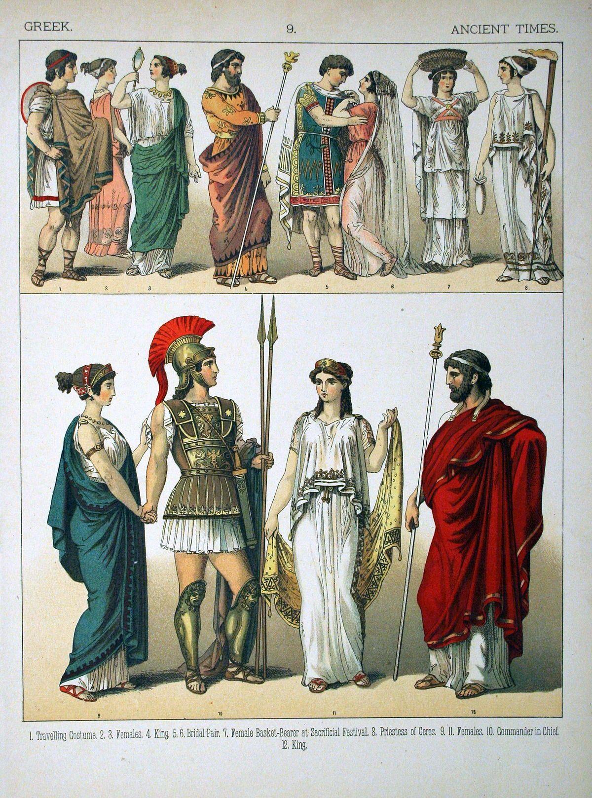 Greek Dress Wikipedia Ancient Greek Costumes Ancient Greek Clothing Ancient Greece Fashion