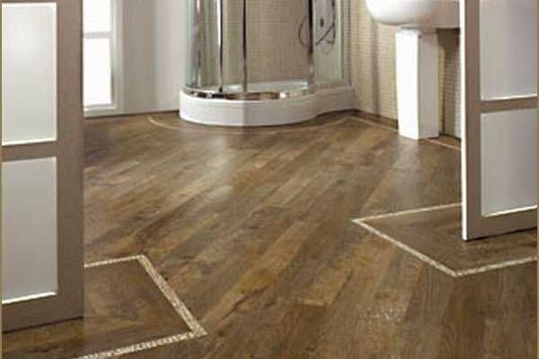 bathroom wood flooring laid diagonally bathroom floor ideas gallery - Flooring Bathroom Ideas
