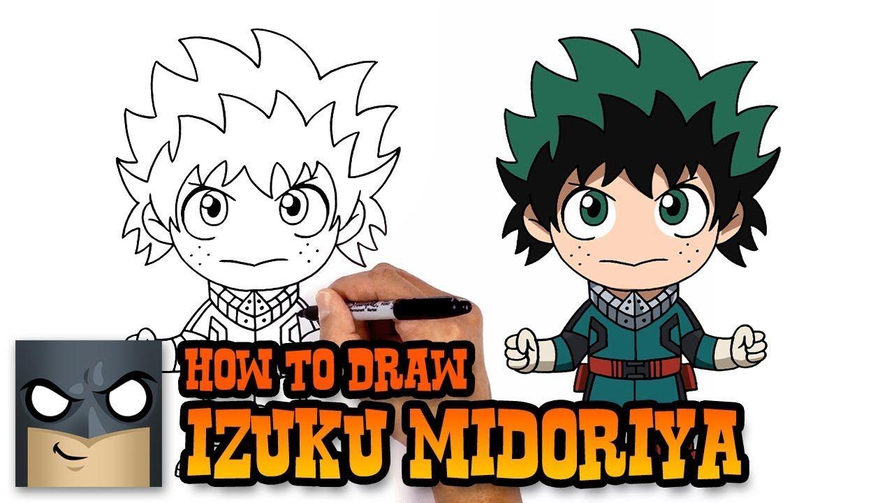 How To Draw Izuku Midoriya My Hero Academia Cartooning 4 Kids Drawing Topics Easy Cartoon Drawings