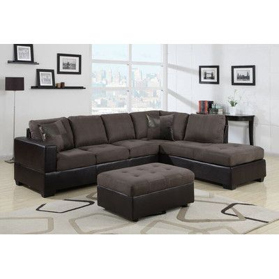 Beverly Fine Furniture Jackson Sectional Orientation Right Hand Facing