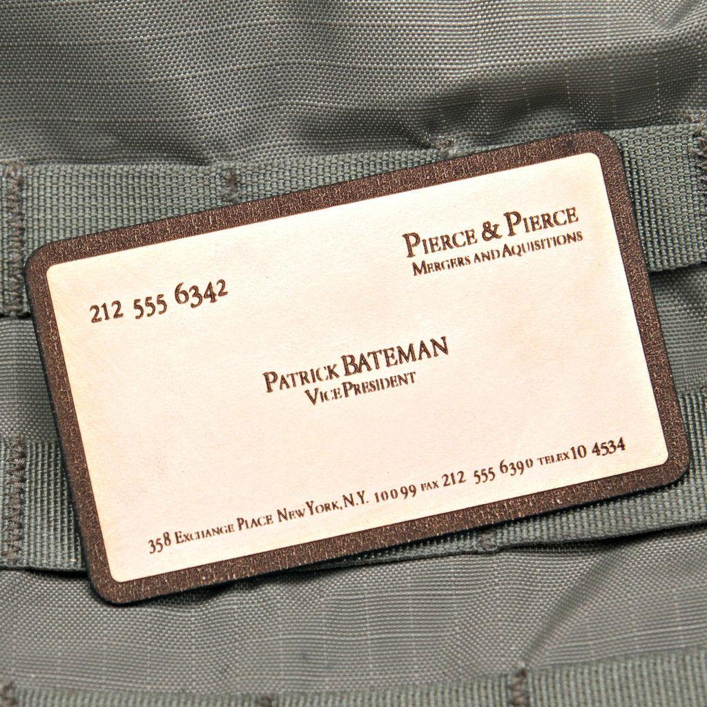 Patrick bateman business card patch
