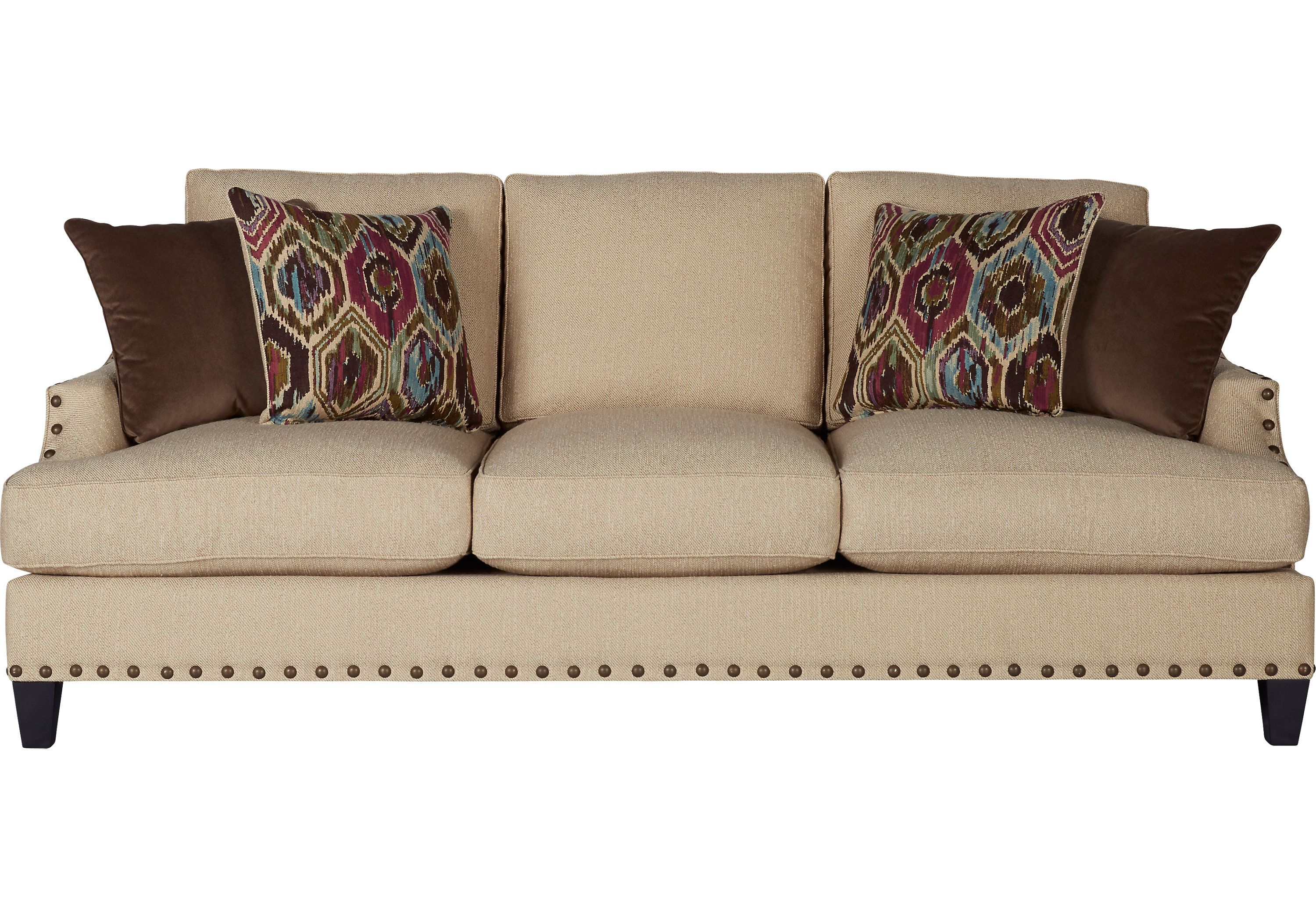 picture of Cindy Crawford Home Nolita Taupe Sofa from Sofas
