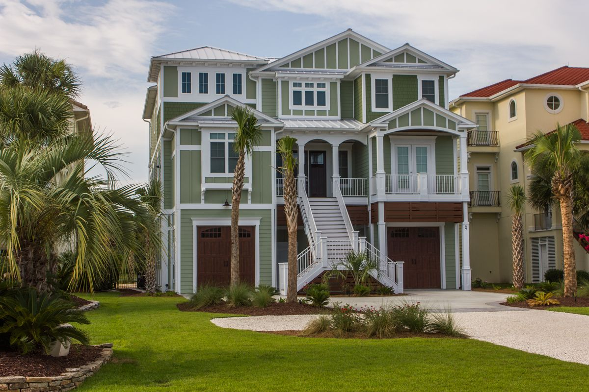 Beach home 145 exterior sherwin williams clary sage - Coastal home exterior color schemes ...