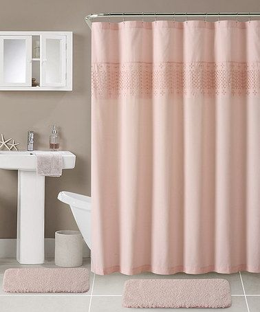 Love This Light Pink Sabrina Shower Curtain With Hooks