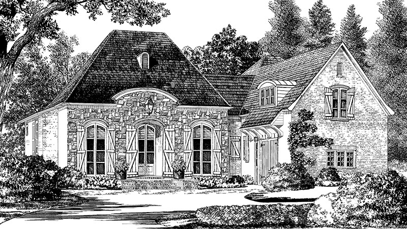 St Tammany Andy Mcdonald Design Group Southern Living House Plans French House Plans Southern Living House Plans Cottage House Plans