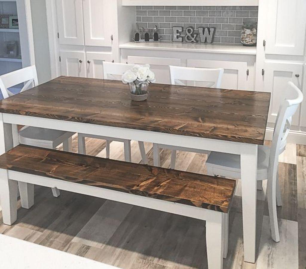 44 Elegant Farmhouse Tables Decoration Ideas