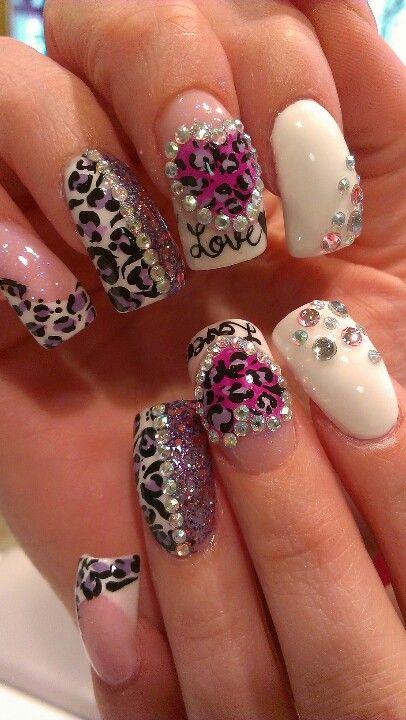 diva sexy leopard nail art