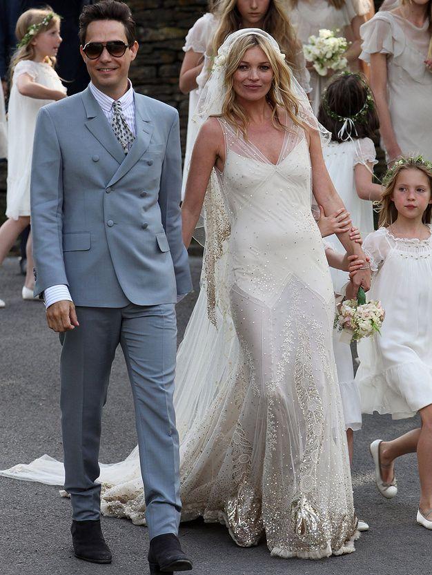 Kate Moss, la mariée bohème chic