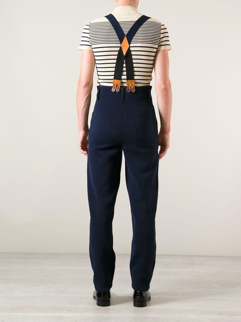 Jean Paul Gaultier Vintage pantalon taille haute à bretelles ... 2c1e26be2f3b
