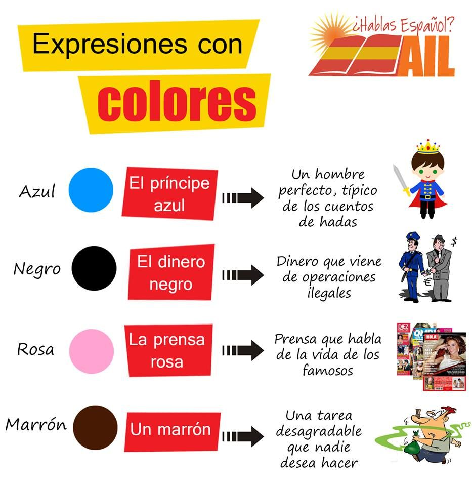 Expresiones con colores httpailmadridtumblr i bet you all explore speak spanish spanish language and more robcynllc Image collections