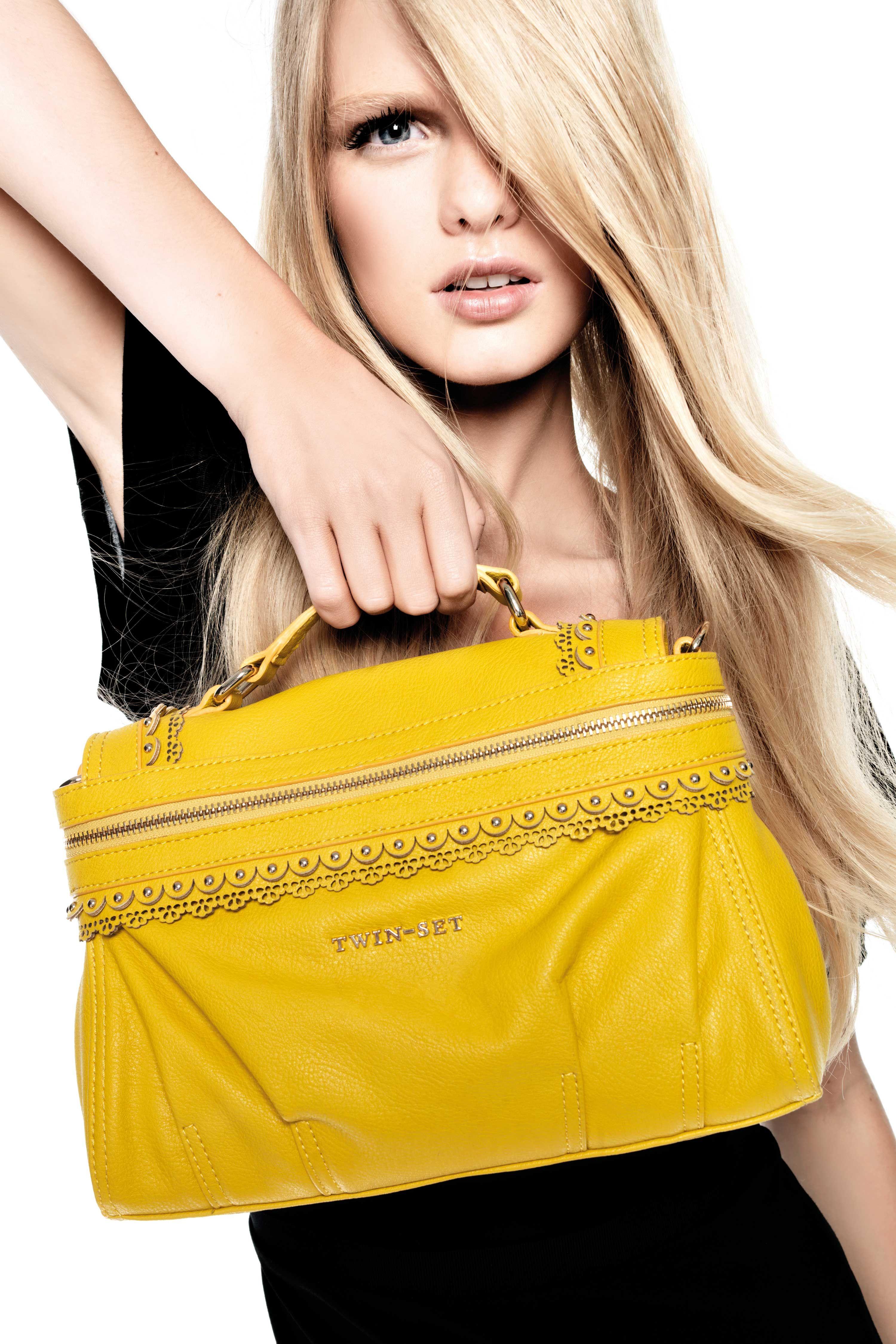 TWIN-SET Simona Barbieri :: Shop Online - Borse - Borsa cartella piccola, ecopelle, con zip e borchiette, manico e tracolla