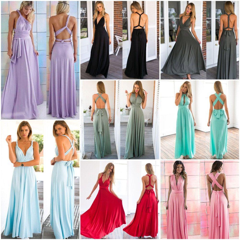828b728fe20a3b Vestido longo multi amarração formas uso aara festa madrinha casamento -  multi color | UFashionShop