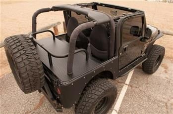 Jeep Backbone Part Cc Tj Cargo Carrier Fits 1997 To 2006 Tj Wrangler And Rubicon 4 Wheel Drive Jeep Interiors Cargo Carrier Jeep Tj
