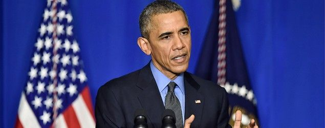 President Obama at a press conference in Paris. (Getty Images)