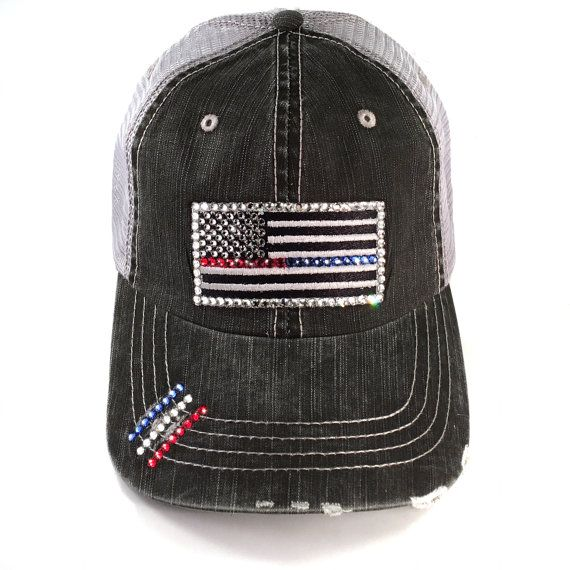 bd7768655b7 Thin Blu Red Line Flag Baseball Cap