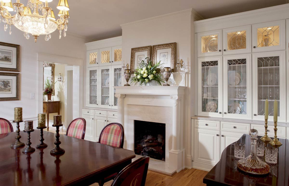 Better Than A Single Overpowering Protruding China Cabinet Wall To Built In Cabinets Dining Room