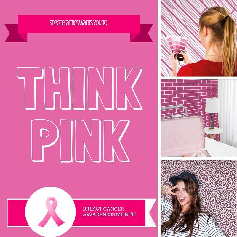 #October is here and so is #BreastCancerAwarenessMonth. We #ThinkPink with our #pink #tile collections! How do YOU think pink?  #findacure #saveourwomen #design #tilestyle #interiordesign #floortile #walltile #pinkdecor #homedecor #animalprint #woodlook #tileaddiction #gopink by specceramicsinc