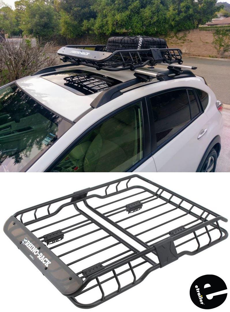 rhino rack roof mounted steel cargo