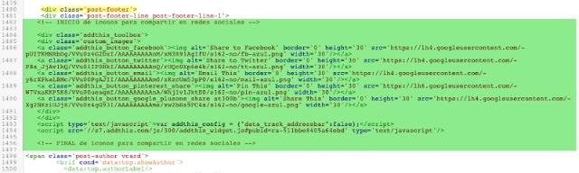 Cómo cambiar los iconos de compartir en redes sociales (versión web)