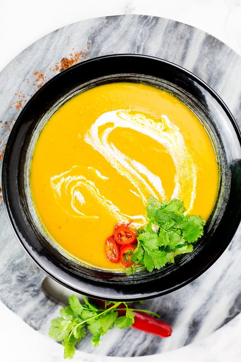 This Thai Butternut Squash Soup With Coconut Milk Is A Creamy Easy To Make Vegan Soup That Is Ful Squash Soup Butternut Squash Soup Thai Butternut Squash Soup