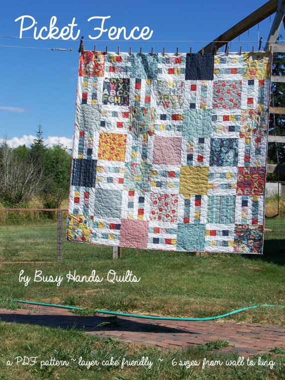 Picket Fence Quilt Pattern In 6 Sizes From Wall By Busyhandsquilts